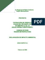 252 Declaracion de Impacto Ambiental Agua Santa s.a.