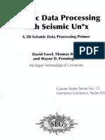 Seismic Data Processing With Seismic Unix