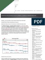 Construction Schedule Delay Experts _ Schedule Window Analysis