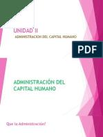 Unidad II Adminsitracion Del Capital Humano