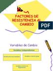 Cambio Resistencia
