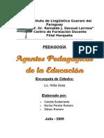 Agentes pedagógicos de la Educación