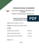 TRABAJO DE ANÁLISIS ECONÓMICO