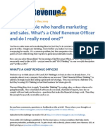 What's a Chief Revenue Officer, or CRO?