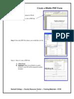 Create a Fillable PDF Form