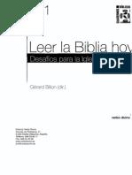 141 Leer La Biblia Hoy - Gerard Billon
