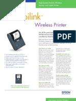 Epson Mobilink P60 Mobile Printer Brochure