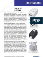 Epson TM-H6000III Thermal Impact Printer Brochure
