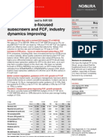 DIsh TV 130701 Nomura Reiterate Buy Focus on Value-focused Subscribers and FCF,Industry Dynamics Improving Buy Tgt 108 Upside 77%