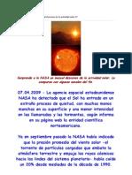 Sorprende a La NASA Un Inusual Descenso de La Actividad Solar