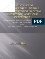 Nonclosure of Rectourethral Fistula During Posterior Sagittal Anorectoplasty