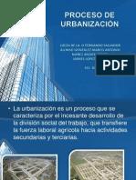 PROCESO DE URBANIZACIÓN