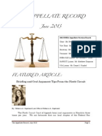 The Appellate Record - July 2013