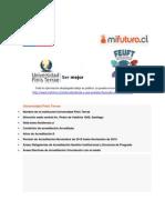 Universidad Finis Terrae - Ficha técnica