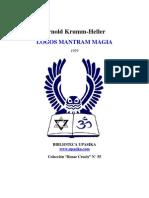 Krumm Heller Logos Mantram Magia.pdf