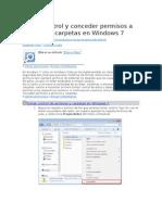 Tomar Control y Conceder Permisos a Archivos y Carpetas en Windows 7