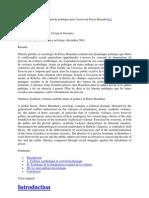 Violence symbolique et statut du politique chez Pierre Bourdieu