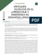 Enfoques metodológicos en el aprendizaje y enseñanza de segundas lenguas