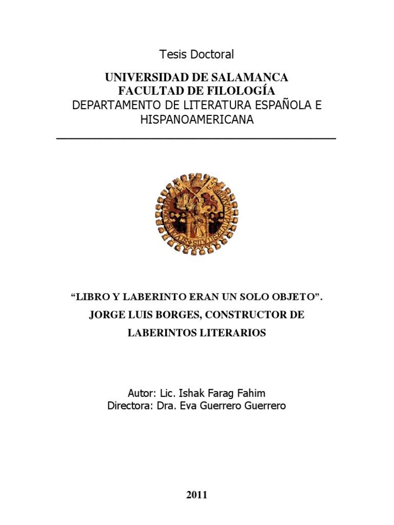 FARAG FAHIM_Libro y Laberinto Eran Un Solo Objeto