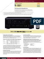 DENON Avr1801 Productsheet