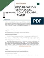 Lingüística de corpus y enseñanza del español como 2L