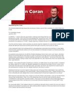 Ken Coran Statement