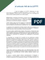 LOTTT_Analisis Del Articulo 143 de La LOTTT