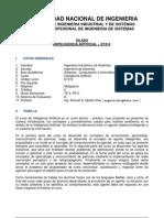 Silabo Inteligencia Artificial Uni 2011-II