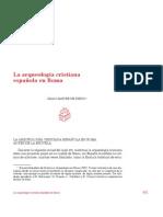 La arqueologia cristiana española en Roma