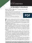 Rol de La Simulacion en Anestesia