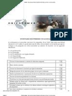 ORIENTAWEB - Cuestionario de Intereses y Habilidades