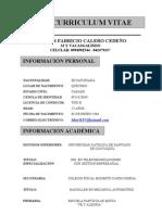 HOJA DE VIDA ING. CARLOS CALERO.doc