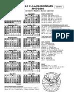 HKES Calendar 2013-2014