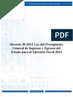 Decreto 30-12 p Ej. Fiscal 2013