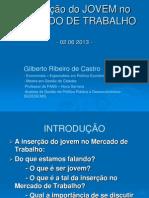 A Inserção do JOVEM no MERCADO DE TRABALHO pps final 2013