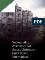 Vulnerability Syrian Christians