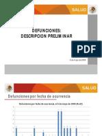 Influenza defunciones en mexico