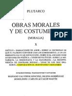 Tomo X - OBRAS MORALES Y DE COSTUMBRES - Plutarco - COMPARACIÓN DE ARISTÓFANES Y MENANDRO