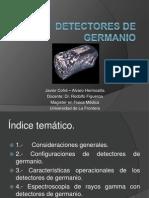 Detectores de Germanio, Javier Cofré y Alvaro Hermosilla.