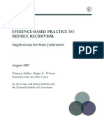 Evidence Based Practice to Reduce Recidivism