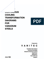 Atlas of Continuous Cooling Transformation Diagrams for Vanadium Steels