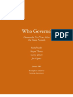 Who Governs. Guatemala After 5 Years the Peace Accord