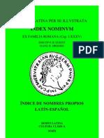 Vocabulario Index Nominum