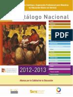 Catalogo Nacional 2012-2013