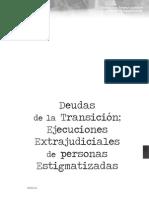 Deudad de La Transicion. Ejecuciones Extrajudiciales de Personas