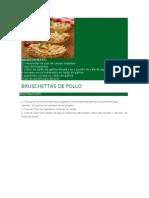 Bruschettas de Pollo
