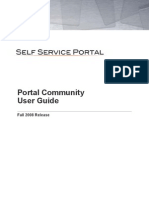 Portal Community User Guide Fall 2008 Release Helpstream Software