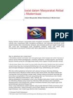 Perubahan Sosial Dalam Masyarakat Akibat Globalisasi