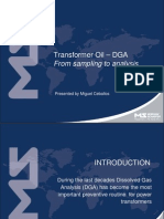 Transformer Oil - DGA - From Sampling to Analysis