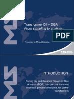 Transformer Oil - DGA - From Sampling to Analysis